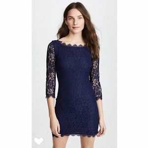 DVF Short Lace Dress for Parties&Events LIKE NEW!
